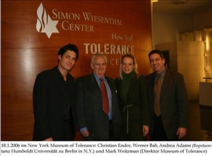 18. Januar 2006 New York Tolerance Center (1 photo)